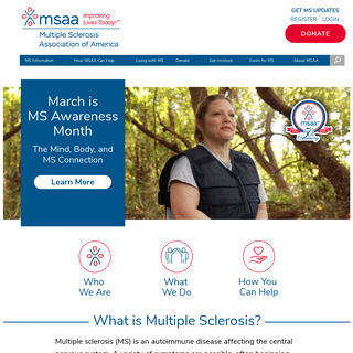 MSAA- The Multiple Sclerosis Association Of America