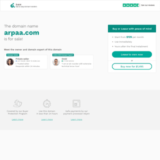 The domain name arpaa.com is for sale