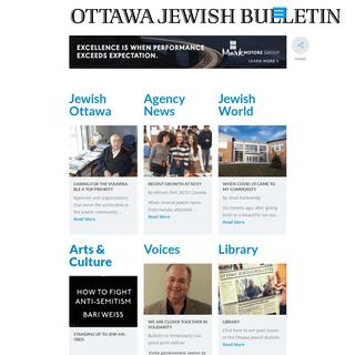 Home Page - Ottawa Jewish Bulletin