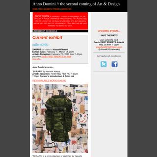 Anno Domini™ representing Urban Contemporary Art & Culture since 2000