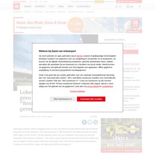 """Lokeren vraagt (voorlopig) geen faillissement aan- """"Bestaand... - Gazet van Antwerpen"""