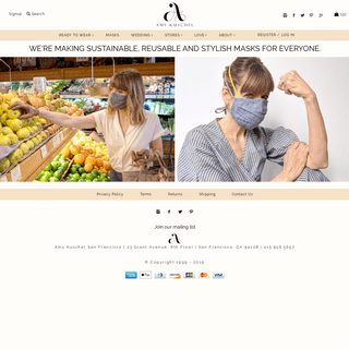Amy Kuschel San Francisco - Sustainable Apparel For Women - Simple, Iconic Style