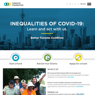 Your Philanthropy Matters. - Toronto Foundation