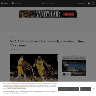 NBA All-Star Game- How to watch, live stream, time, TV channel - cleveland.com
