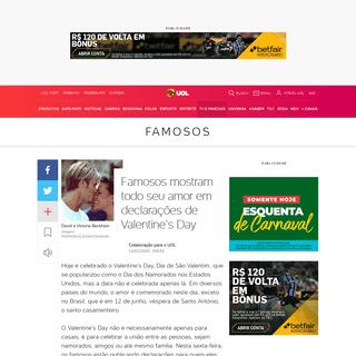 ArchiveBay.com - tvefamosos.uol.com.br/noticias/redacao/2020/02/14/famosos-celebram-o-valentines-day.htm - Famosos postam mensagens de Valentine's Day