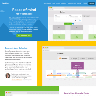 Cushion - Peace of mind for freelancers™