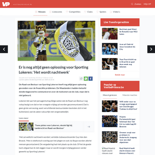 Er is nog altijd geen oplossing voor Sporting Lokeren- 'Het wordt nachtwerk' - Voetbalprimeur