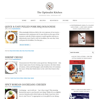 ArchiveBay.com - theoptimalistkitchen.com - the optimalist kitchen - maximum taste, minimum toil