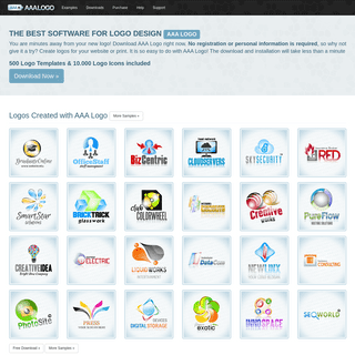 AAA Logo- The Best Software for Logo Design. Your own logo right now!
