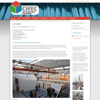 CHEC — Centre des Hautes Etudes de la Construction