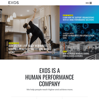 EXOS - Human Performance - Services, Spaces & Technology