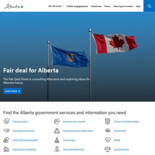 Government of Alberta - Home - Alberta.ca
