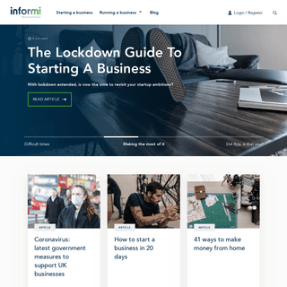 Informi- Advice for starting up and running a small business