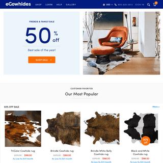 eCowhides® -- Cowhide Rug · Real Cowhide, Factory Direct