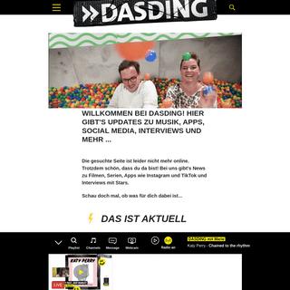 Willkommen bei DASDING! Hier gibt's Updates zu Musik, Apps, Social Media, Interviews und mehr ... - DASDING