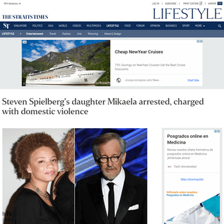 Steven Spielberg's daughter Mikaela arrested, charged with domestic violence, Entertainment News & Top Stories - The Straits Tim