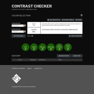WCAG - Contrast Checker