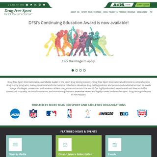 Sport Drug Testing - Drug Programs & Policy - Athletics - Drug Free Sport