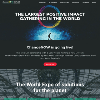 ChangeNOW - International summit for change - ChangeNOW – Global gathering for positive impact
