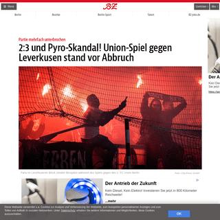 2-3 und Pyro-Skandal! Union-Spiel gegen Leverkusen stand vor Abbruch – B.Z. Berlin