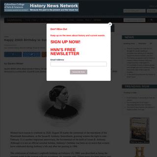 ArchiveBay.com - historynewsnetwork.org/article/174321 - Happy 200th Birthday to Susan B. Anthony (1820-1906) - History News Network