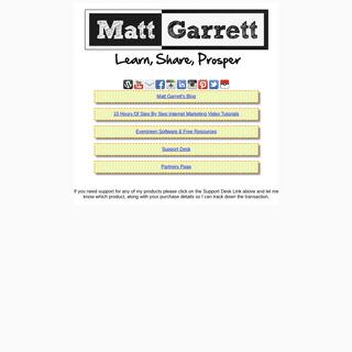 Matt Garrett-'s Internet Marketing Products and Cources