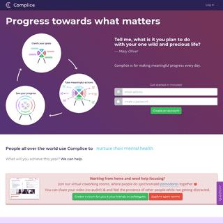 Progress towards what matters - Complice productivity app