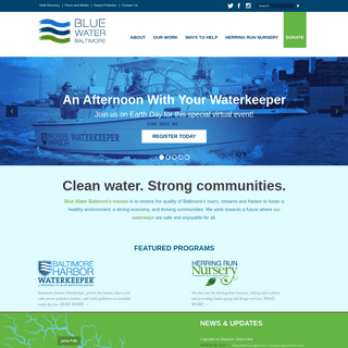 Blue Water Baltimore- Clean Water. Strong Communities.