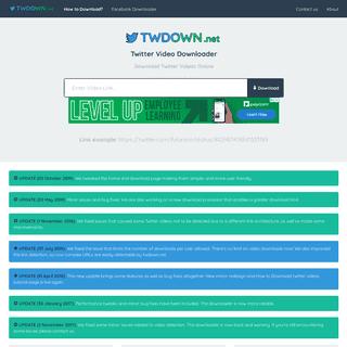 Twitter Video Downloader Online - Download Twitter Videos