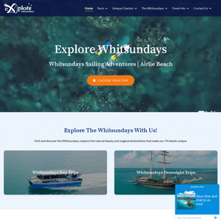 Explore Whitsundays - Sailing Adventures from Airlie Beach