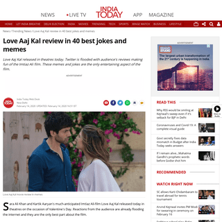 ArchiveBay.com - www.indiatoday.in/trending-news/story/love-aaj-kal-review-in-40-best-jokes-and-memes-1646437-2020-02-14 - Love Aaj Kal review in 40 best jokes and memes - Trending News News