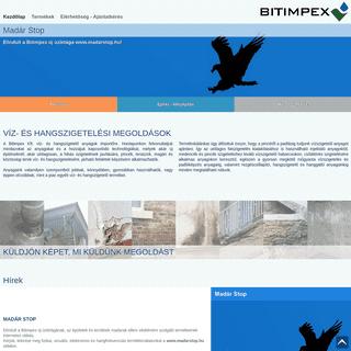 BITIMPEX - VÍZ- ÉS HANGSZIGETELÉSI MEGOLDÁSOK
