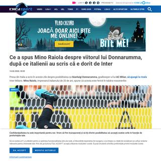 Ce a spus Mino Raiola despre viitorul lui Donnarumma, după ce italienii au scris că e dorit de Inter