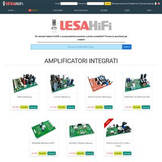 LESAHiFi - Amplificatori, Preamplificatori, Alimentatori, Valvole