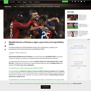 Medellín vs Patriotas, goles y resultado- Liga BetPlay 2020-I