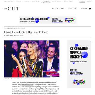 Laura Dern Enjoys Appreciation Serenade at the Spirit Awards