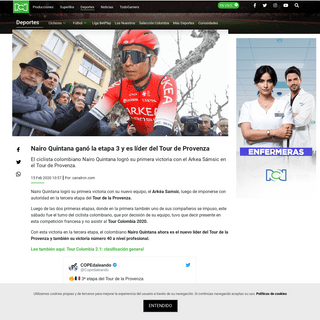 Nairo Quintana ganó etapa 3 del Tour de Provenza