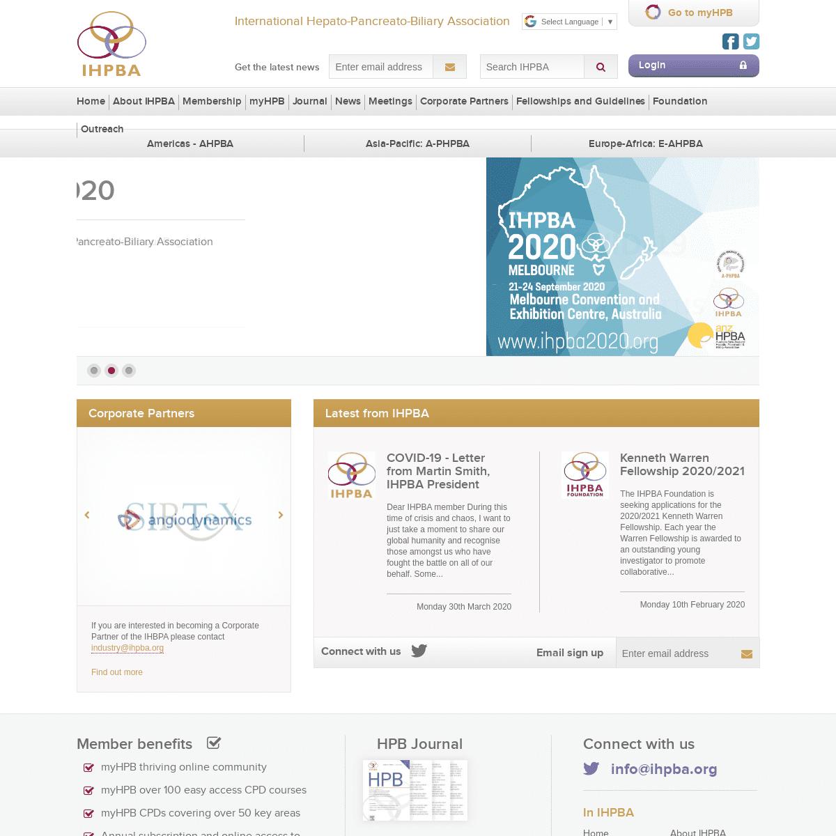 International Hepato-Pancreato Biliary Association - IHPBA