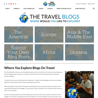 The best blogs on travel on one travel blogs site - The Travel Blogs