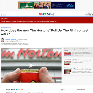 Tim Hortons' 'Roll Up The Rim' is returning, and this time it's digital - CTV News