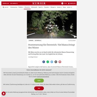 Sturmwarnung für Österreich- Tief Bianca bringt den Winter - kurier.at