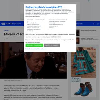 ArchiveBay.com - www.rtp.pt/noticias/cultura/morreu-vasco-pulido-valente_n1206891 - Morreu Vasco Pulido Valente