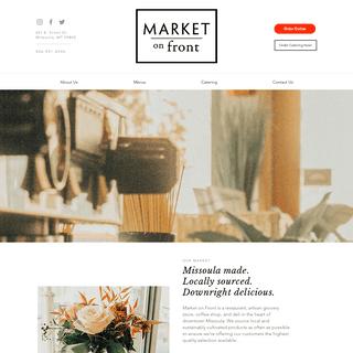 MARKET ON FRONT - Downtown Missoula Restaurant & Market