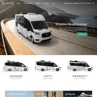 Compact Luxury - Innovative Class C Motorhomes - Leisure Travel Vans
