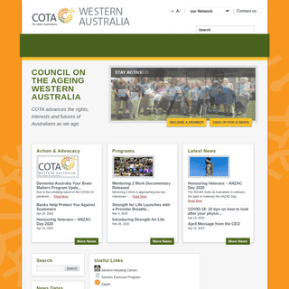 COTA WA - The voice of Western Australian seniors
