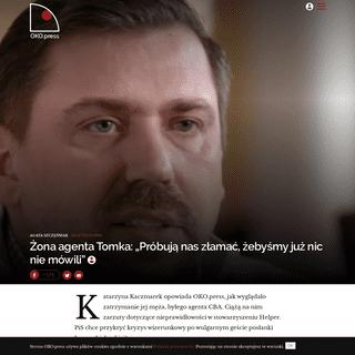 Agent Tomek zatrzymany- Katarzyna Kaczmarek o akcji prokuratury