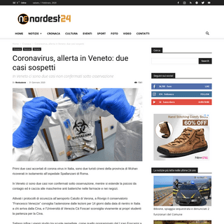 Coronavirus, allerta in Veneto- due casi sospetti - Nordest24