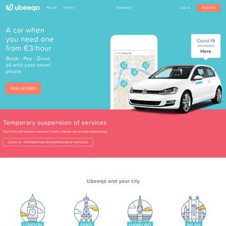 Ubeeqo Car Sharing & Car Club in Europe - Home