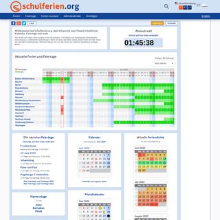 Schulferien.org - Ferien, Feiertage, Kalender