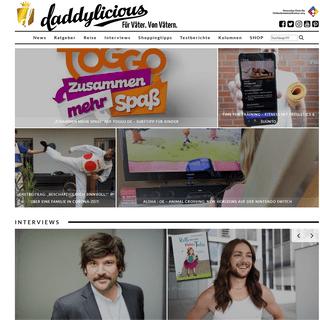 DADDYlicious - Online-Magazin für Väter. Von Vätern.